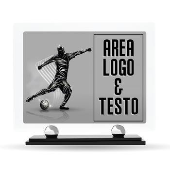 Targa Premiazione Plexiglass Design Calcio 23 cm x 20 cm
