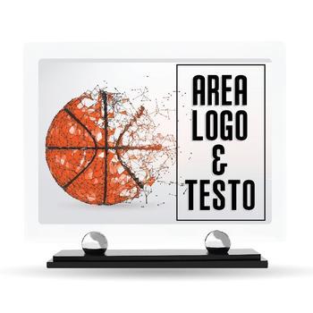 Targa Premiazione Plexiglass Design Basket 23 cm x 20 cm