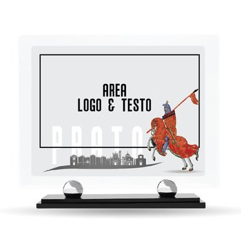 Targa Conferimento Plexiglass Prato Design 23 cm x 20 cm