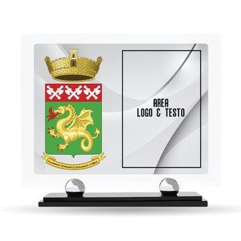 """Targa Plexiglass Design """"Corpo dei Pompieri"""" 23 cm x 20 cm"""