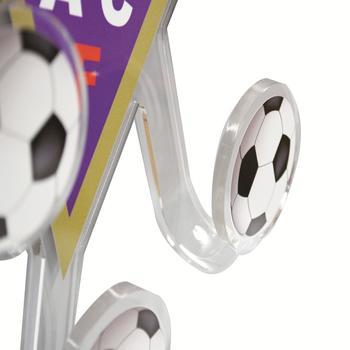 """Appendiabiti Design in Plexiglass """"Logo ACF Fiorentina"""" a 3 Bracci"""