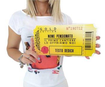 Gold Ticket's Pensionamento 29,5 cm x 15 cm