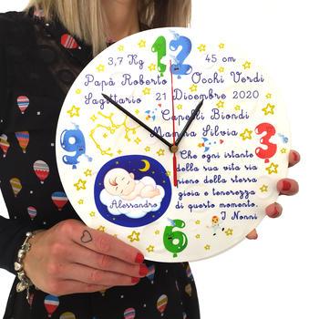 Orologio da Parete Personalizzabile Dedicato ai Neonati