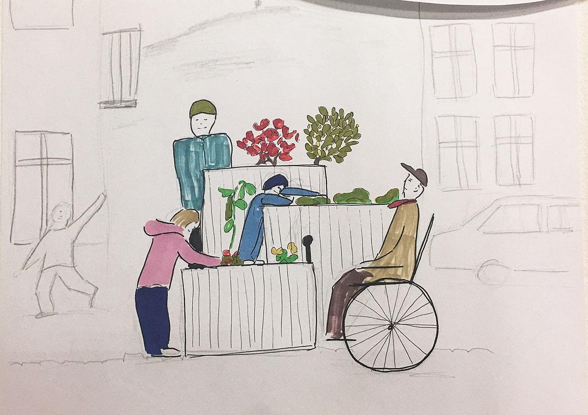 Både barn og rullestolbrukere skal ha glede av plantekassene