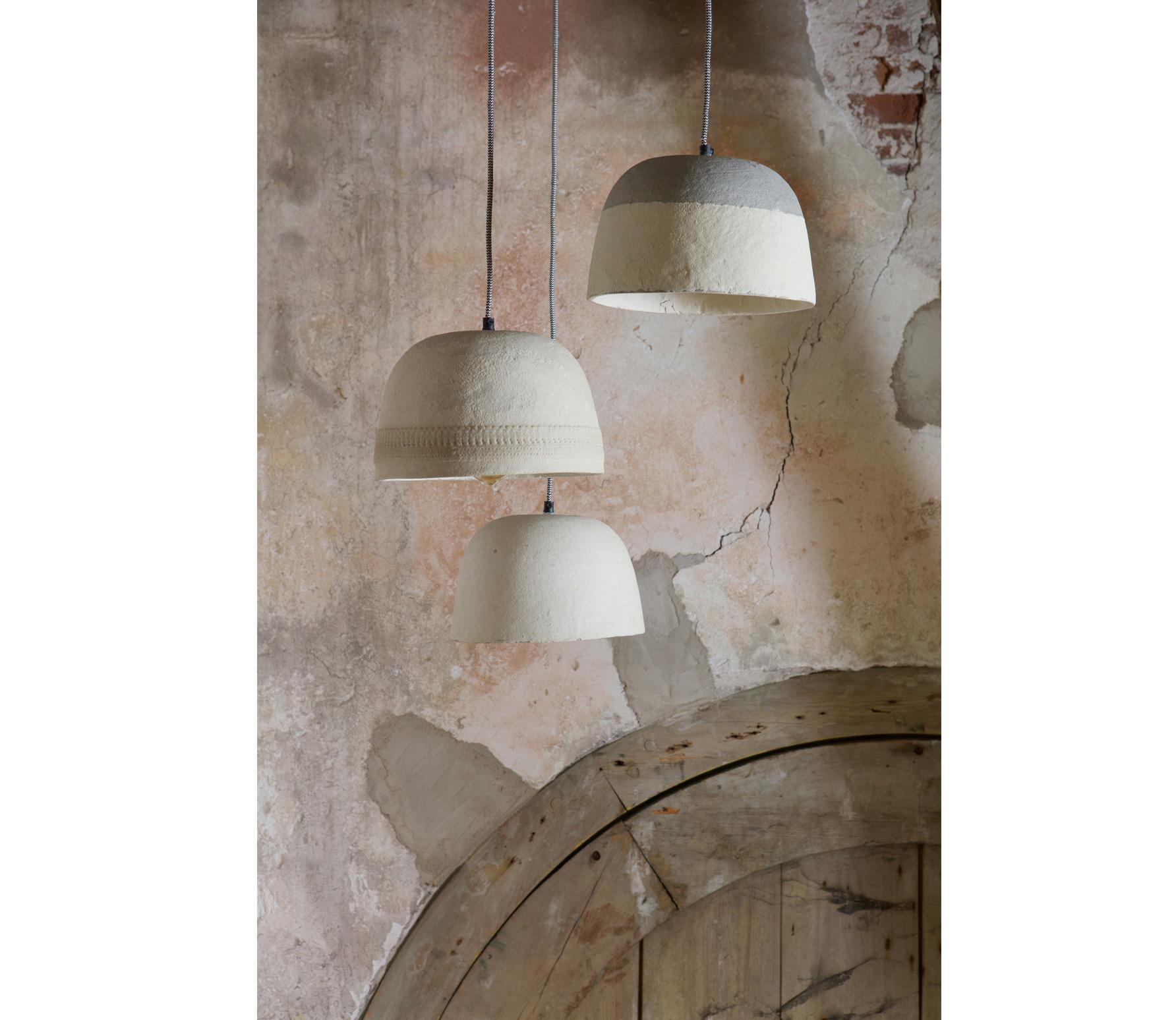 BePureHome Dawn hanglamp � 25�cm offwhite bewerkt papier/steen mix