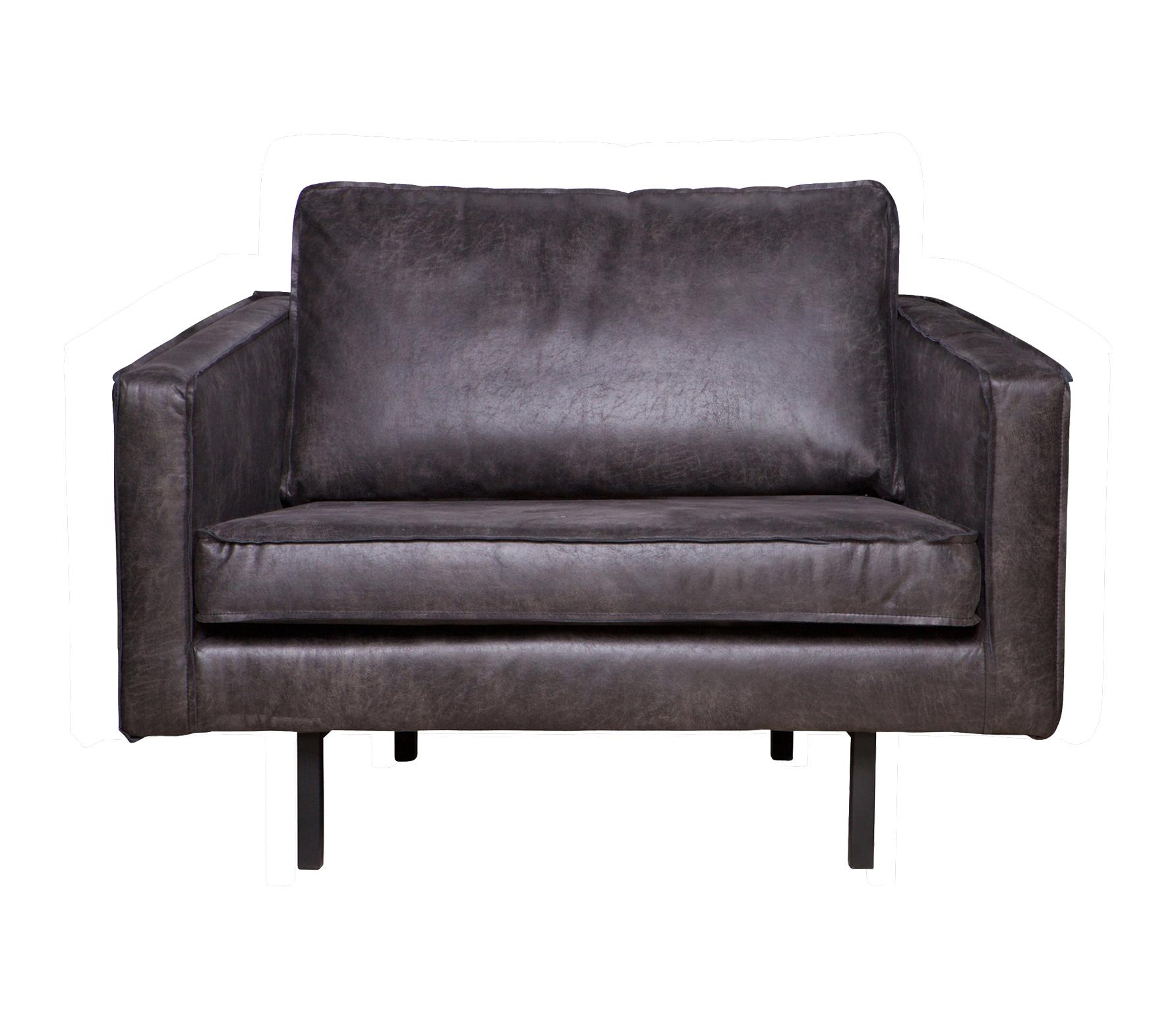 BePureHome Rodeo loveseat 1,5-zits fauteuil zwart recycle leer Zwart