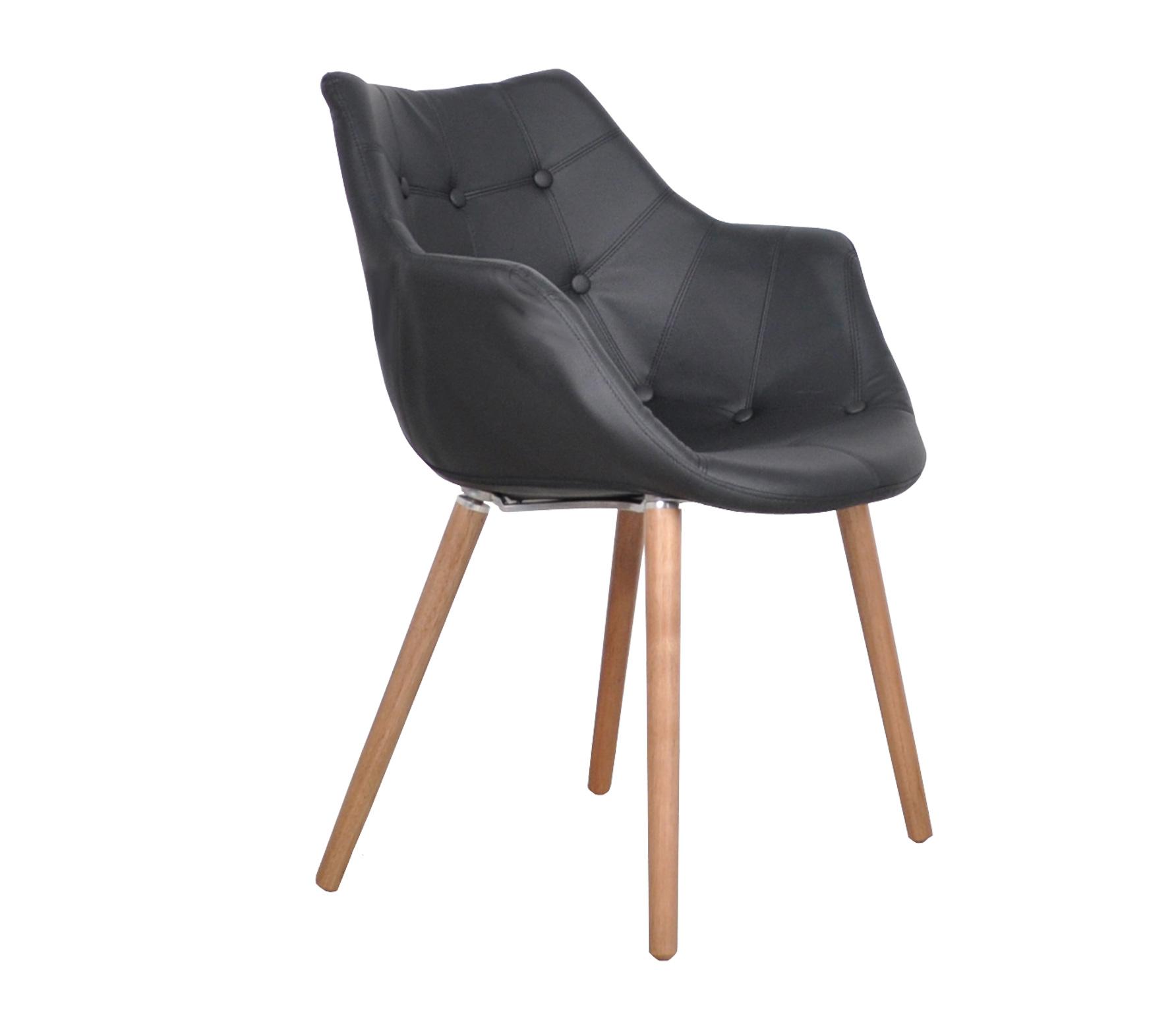 Zuiver Eleven stoel zwart lederlook Zwart