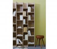 WOOOD Expand boeken-vakkenkast 200x80x35 cm eiken fineer Standaard
