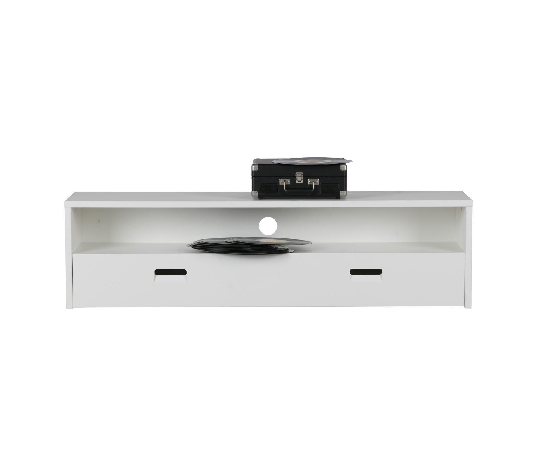 vtwonen Look at TV meubel 40x150x35 cm grenen wit gelakt Wit