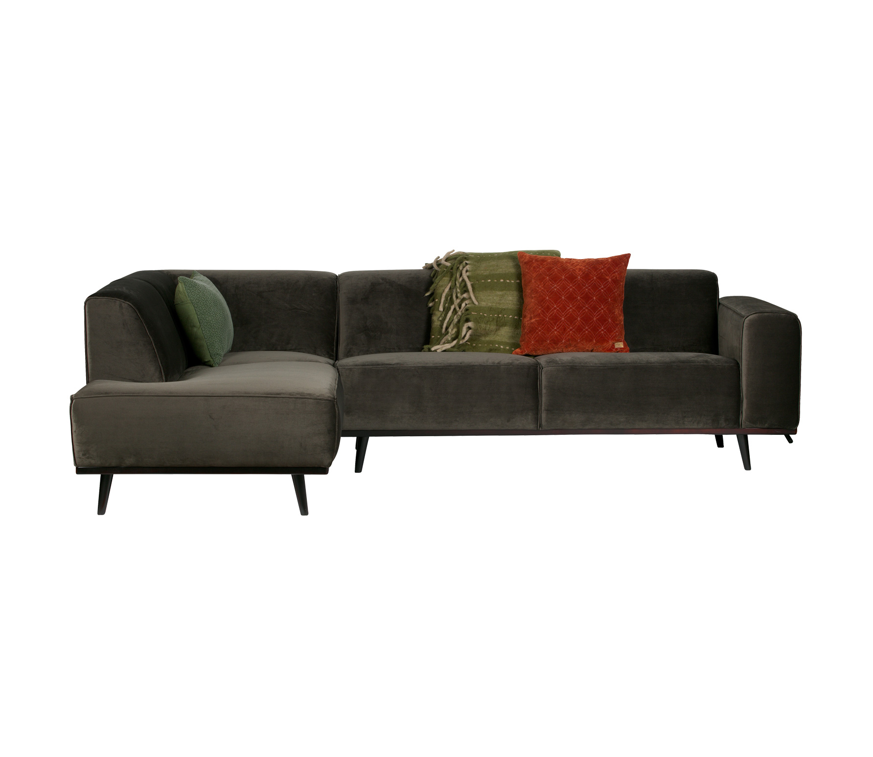 BePureHome Statement hoekbank velvet warm groen Links