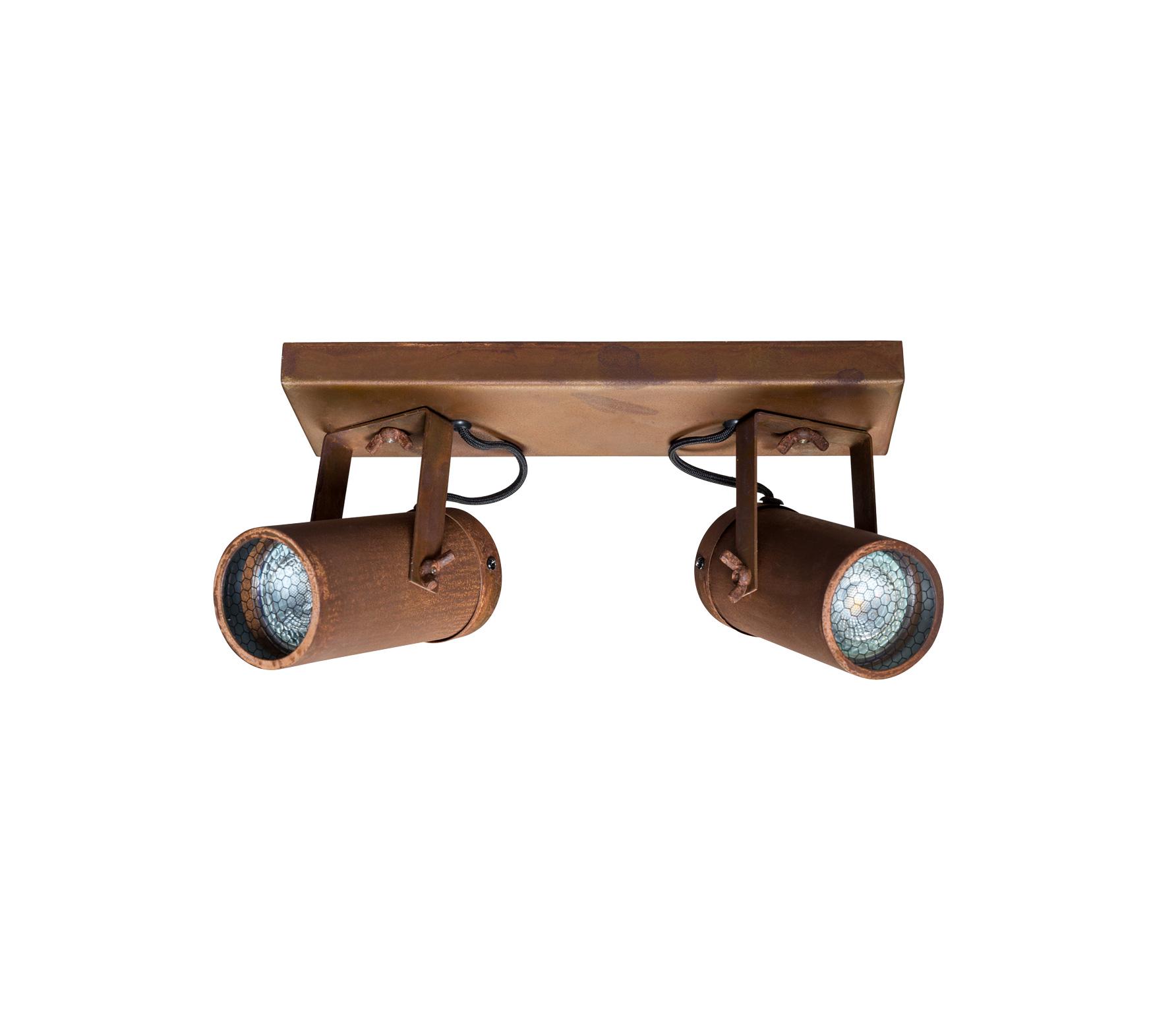 Dutchbone Scope 2 spots plafondlamp staal roest Roest kleur