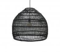 HKLiving Ball rieten hanglamp zwart, Ø 60 cm  Zwart