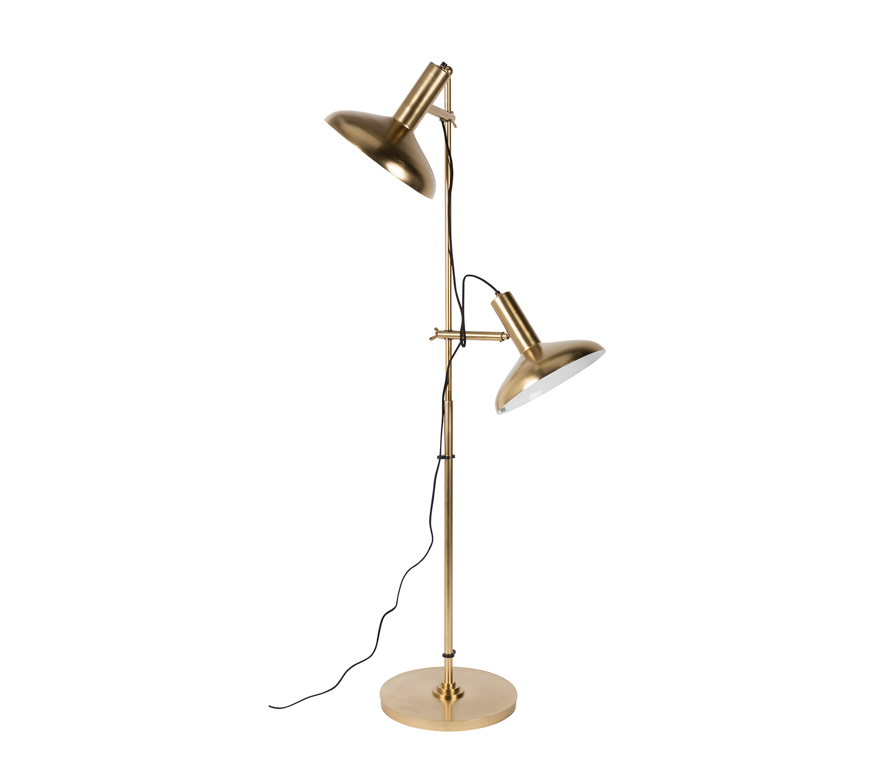 Dutchbone Karish vloerlamp brass metaal
