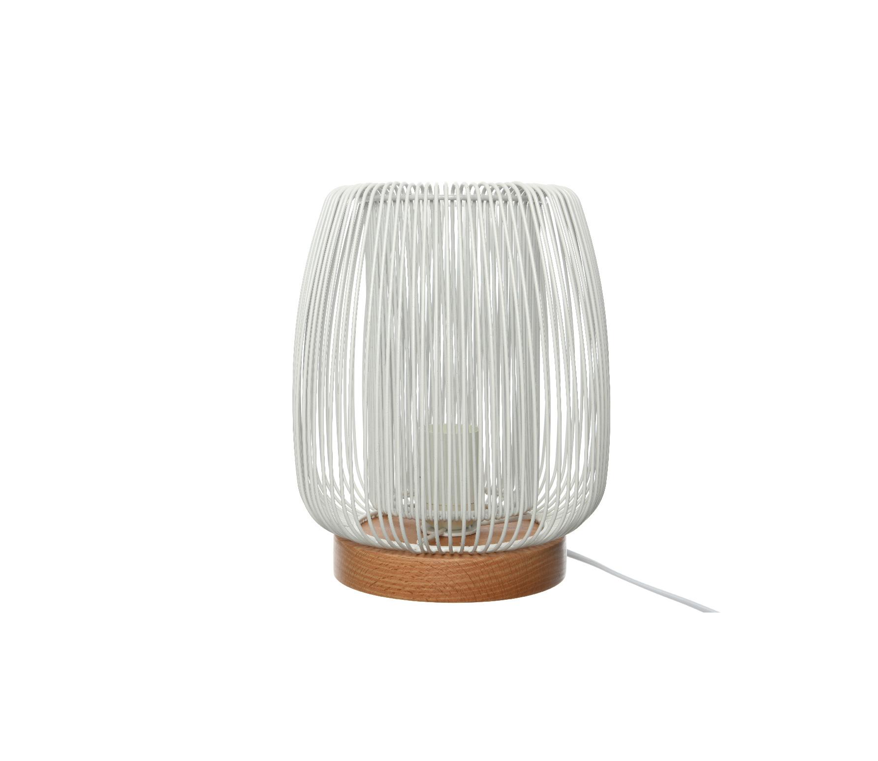 Tafellamp rond wit ø19.5cm ijzer