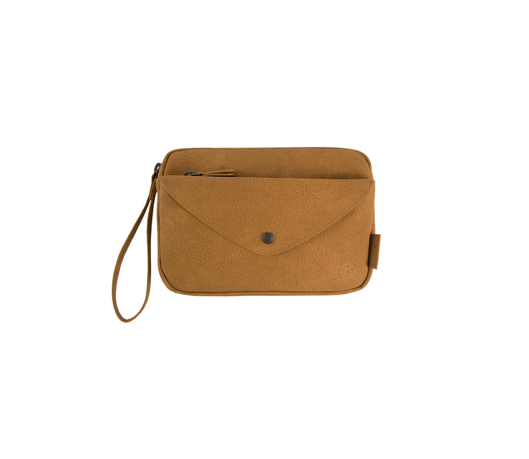 Zusss handige portemonnee-clutch camel pu leder