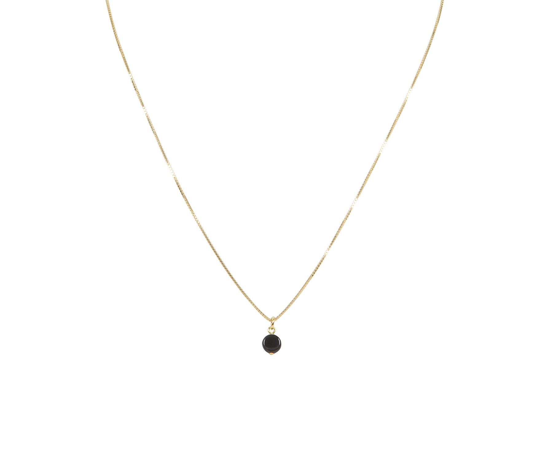 Ellen Beekmans ketting kort 45 cm met hanger zwart goudkleurig