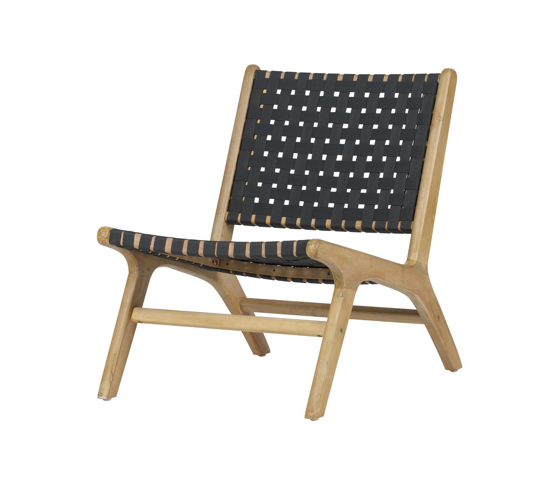 vtwonen Frame geweven stoel antraciet hout