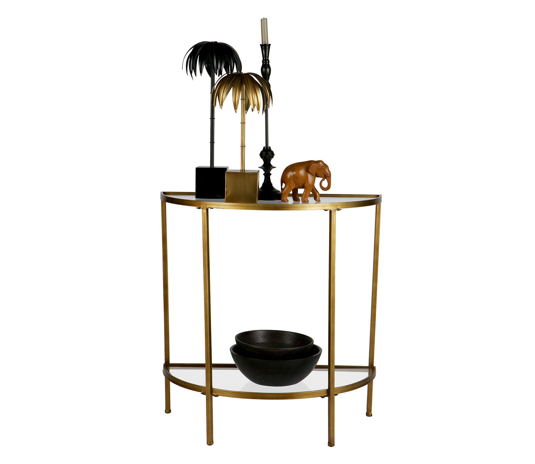 BePureHome Goddess sidetable antique brass metaal