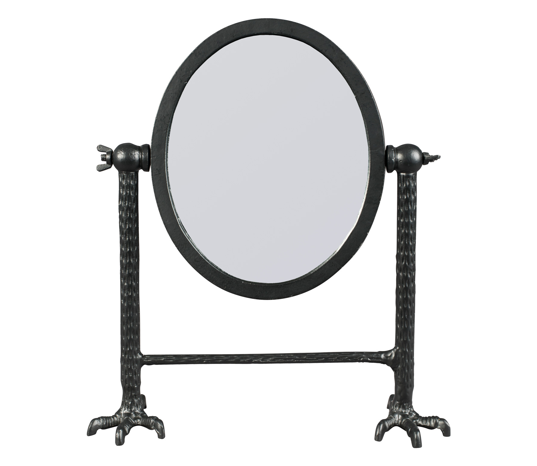 Dutchbone Falcon spiegel zwart aluminium