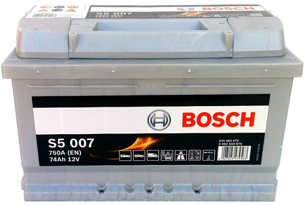 s5 007 bosch car battery 12v 74ah type 100 s5007. Black Bedroom Furniture Sets. Home Design Ideas