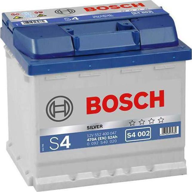 s4 002 bosch car battery 12v 52ah type 079 s4002. Black Bedroom Furniture Sets. Home Design Ideas