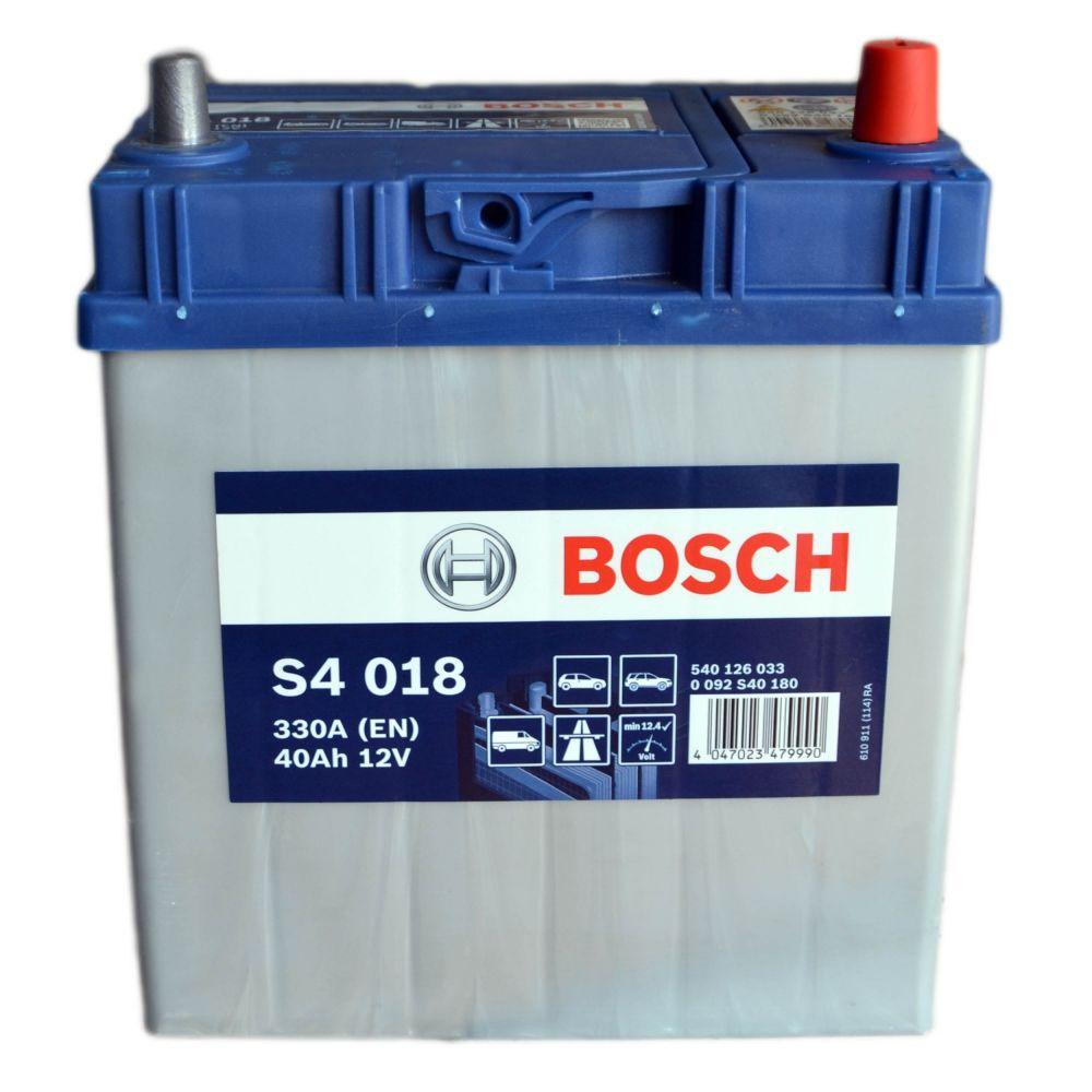 s4 018 bosch car battery 12v 40ah type 054 s4018. Black Bedroom Furniture Sets. Home Design Ideas