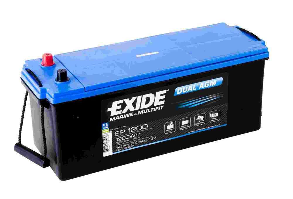 exide leisure battery dual agm ep1200 low cost batteries. Black Bedroom Furniture Sets. Home Design Ideas