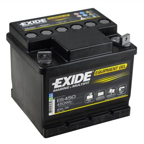exide leisure battery equipment gel es450 low cost. Black Bedroom Furniture Sets. Home Design Ideas