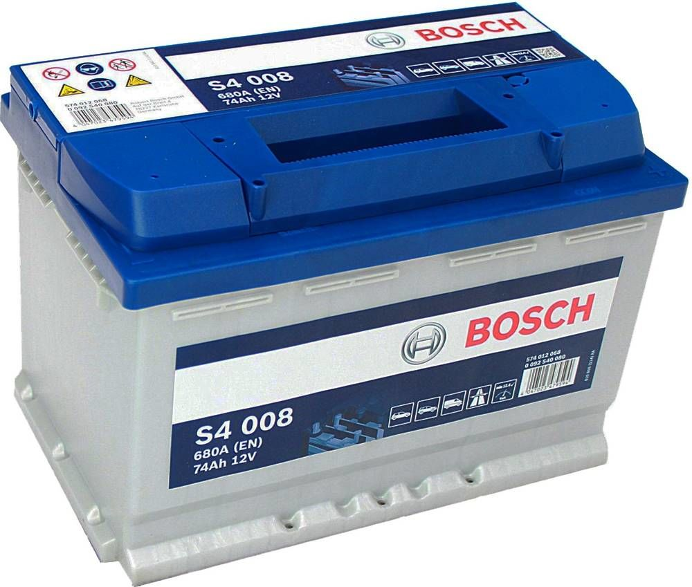 s4 008 bosch car battery 12v 74ah type 096 s4008. Black Bedroom Furniture Sets. Home Design Ideas