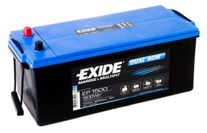 Exide Leisure Battery Dual AGM EP1500