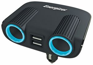 ENERGIZER TWIN 12V SOCKET ADAPTOR