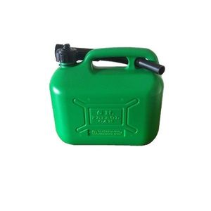 5L GREEN PLASTIC FUEL CAN