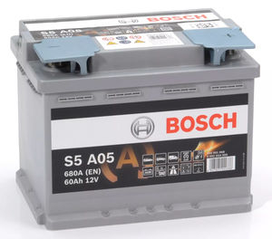 Bosch S5 A05 AGM Start Stop Car Battery 12V 60AH Type 027 S5A05