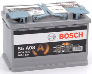 Bosch S5 A08 AGM Start Stop Car Battery 12V 70AH Type 096 S5A08