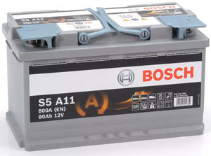 Bosch S5 A11 AGM Start Stop Car Battery 12V 80AH TYPE 115 S5A11