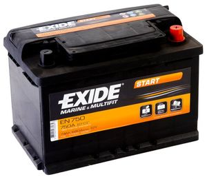 Exide EN750 Start Marine & Multifit Leisure Battery
