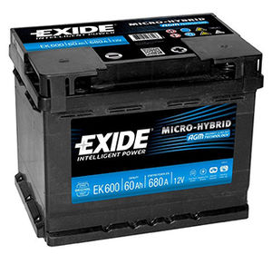 Start Stop Car Battery Exide EK600 (027)