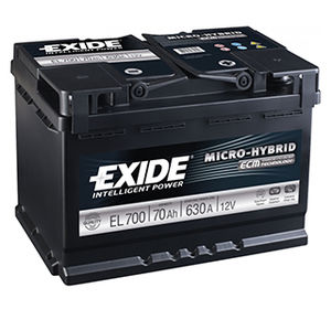 Exide Start Stop Car Battery EL700 (096)