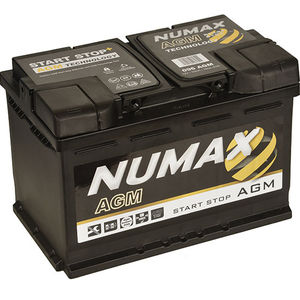 Numax Start Stop AGM Car Battery 12V 70AH 096