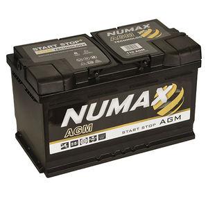 Numax Start Stop AGM Car Battery 12V 80AH 110 / 115