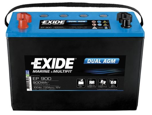 exide leisure battery dual agm ep900 low cost batteries online. Black Bedroom Furniture Sets. Home Design Ideas