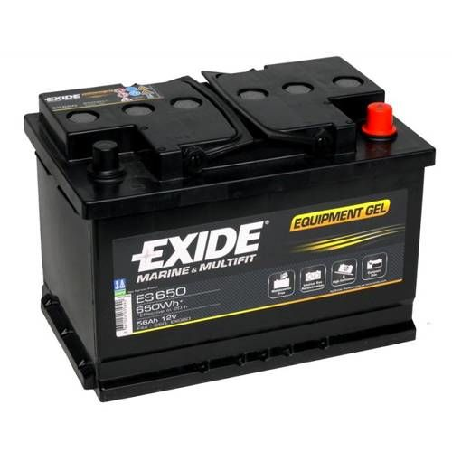 exide leisure batteries equipment gel es650 low cost. Black Bedroom Furniture Sets. Home Design Ideas