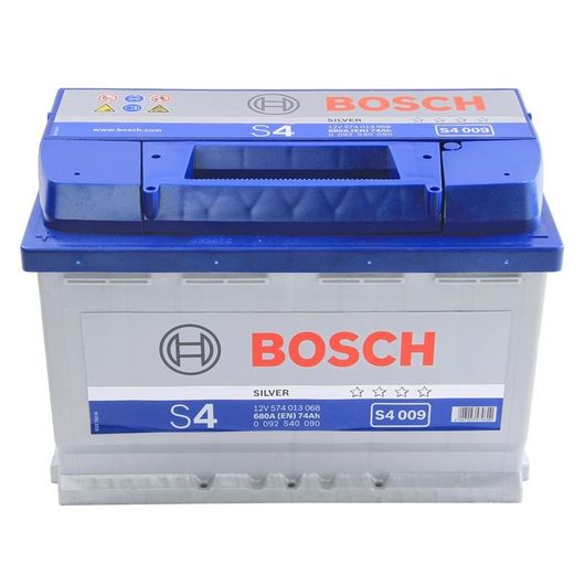s4 009 bosch car battery 12v 74ah type 086 s4009. Black Bedroom Furniture Sets. Home Design Ideas