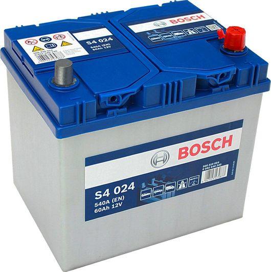 s4 024 bosch car battery 12v 60ah type 005l s4024. Black Bedroom Furniture Sets. Home Design Ideas