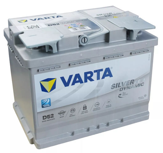 varta car batteries agm 027 d52 din 560901068 low cost. Black Bedroom Furniture Sets. Home Design Ideas