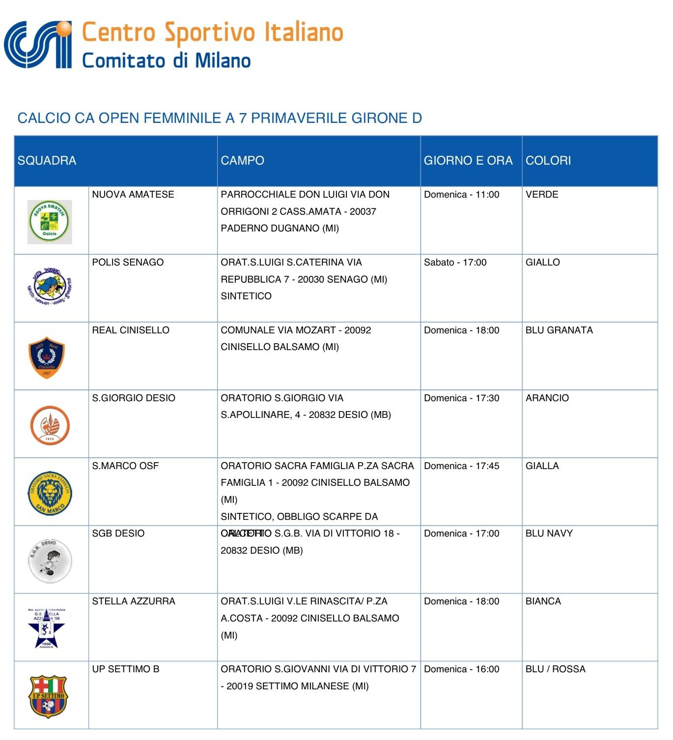 Calendario Torneo A 7 Squadre.Calendari Campionati Stagione 2013 2014 A S D Real Cinisello