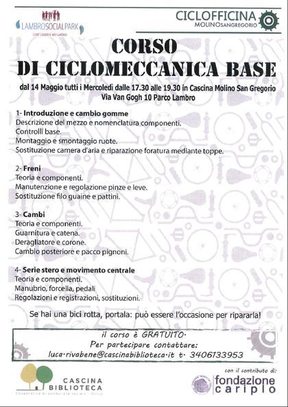 Corso di Ciclomeccanica di base
