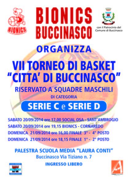 FINALI VII TORNE CITTA' DI BUCCINASCO