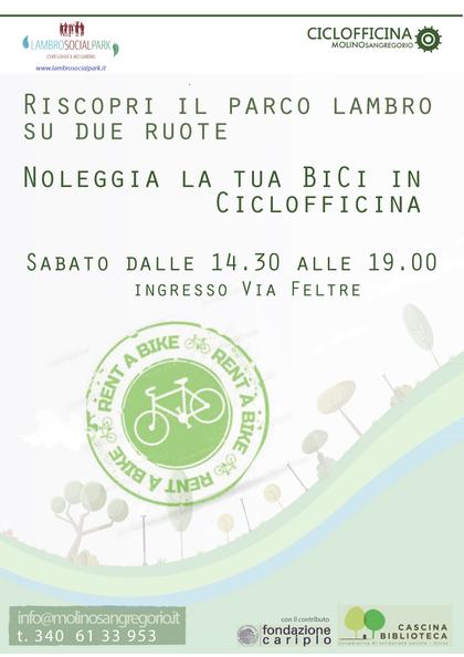 Noleggio bici al Paco Lambro