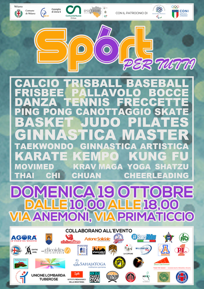 Festa dello sport della zona 6